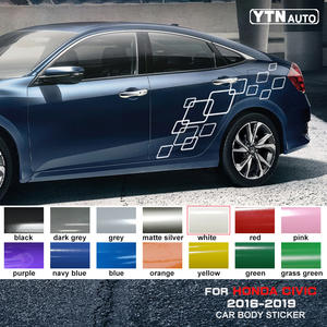 Car-Stickers Decorative Graphic Vinyl Styling Car-Body Honda Civic Custom Linked Square