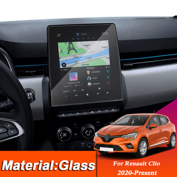 Car Styling Dashboard GPS Navigation Screen Glass Protective Film Sticker For Renault Clio 2020-Present Control of LCD Screen image