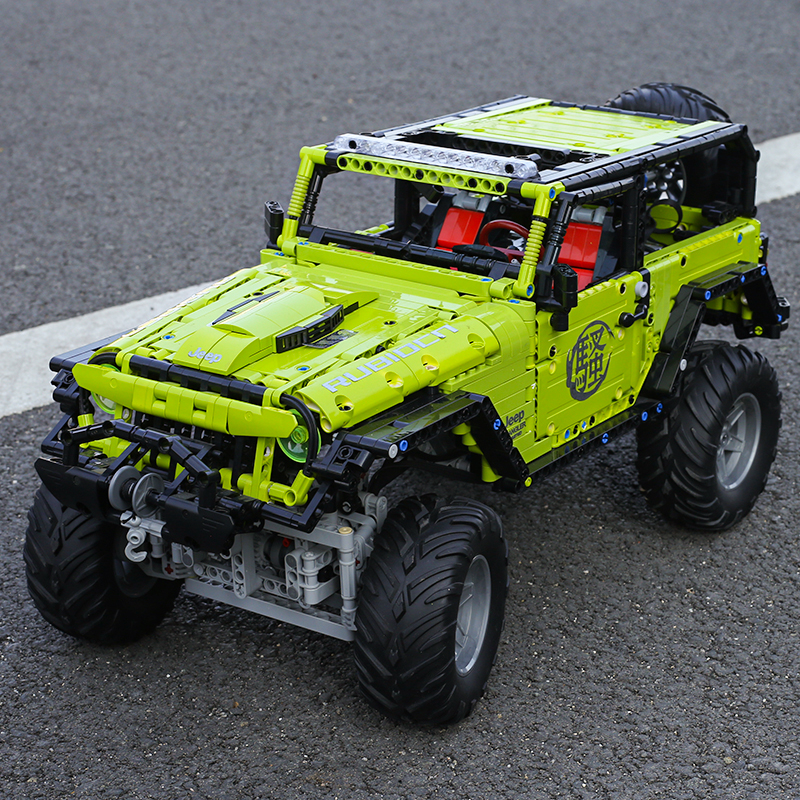 Technic Series MOC Remote Control Building Blocks 1:8 RC Car Jeep Wrangler Rubicon Off Road Vehicle Bricks For Kids Toys Gift