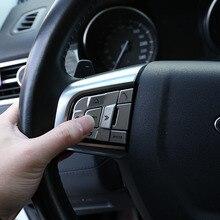 Auto Accessoires Voor Land Rover Discovery Sport 2015-2018 Aluminium Zilver Auto Stuurwiel Knoppen Pailletten Stickers