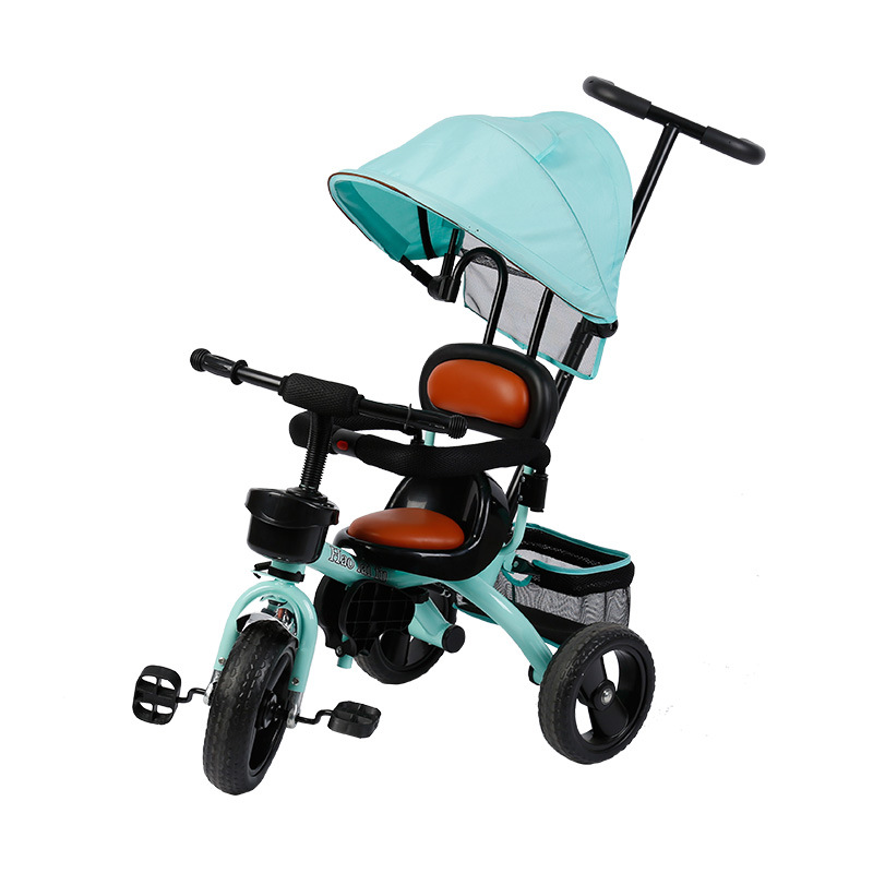 Hand Push Children Three-Wheeled Bicycle with Hood Baby Bicycle Multi-Specification Infant stroller 3 wheel tricycle