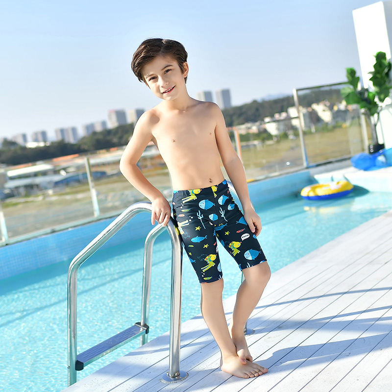 New Style Bathing Suit Fashion Cute Cartoon BOY'S SHORT Swimming Trunks Children Boxers Quick-Dry Children Printed Swimming Trun