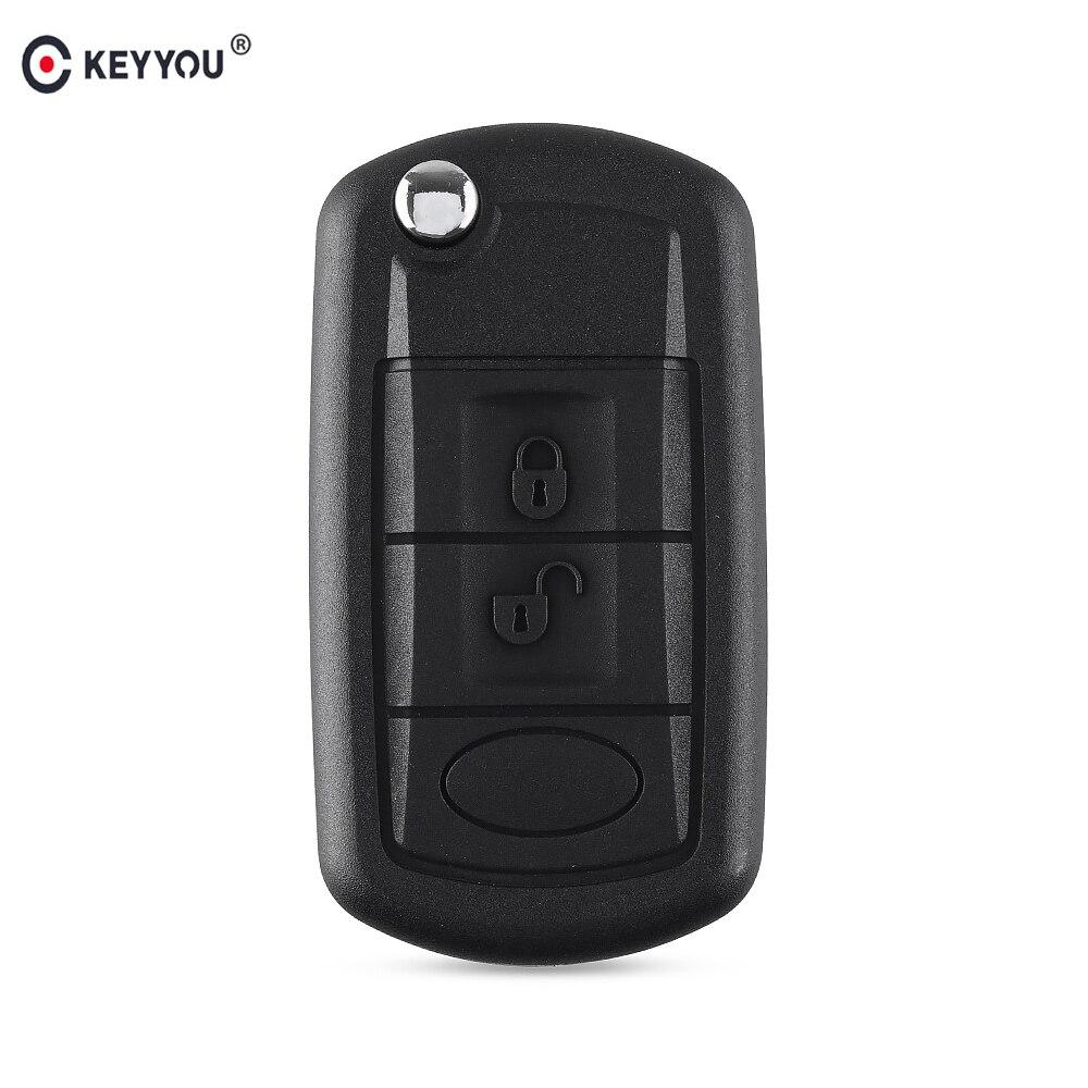 Сменный Чехол KEYYOU Складной флип-чехол для ключей Fob 3 кнопки для LAND ROVER Range Rover Sport LR3 Discovery