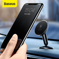 Baseus Magnetic Car Phone Holder Universal Phone Stand Mount Car Holder Dashboard Mobile Phone Stand For iPhone X 8 Xiaomi Mix2