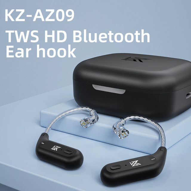 KZ AZ09 Wireless Upgrade Cable Bluetooth-compatible 5.2 HIFI Wireless Ear Hook C PIN Connector With Charging Case 6