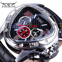 цена на Jaragar Clock Men Sport Watches Top Brand Luxury Automatic Fashion Male Wristwatch Red Triangle 3 Dial Mechanical Relojes Hombre
