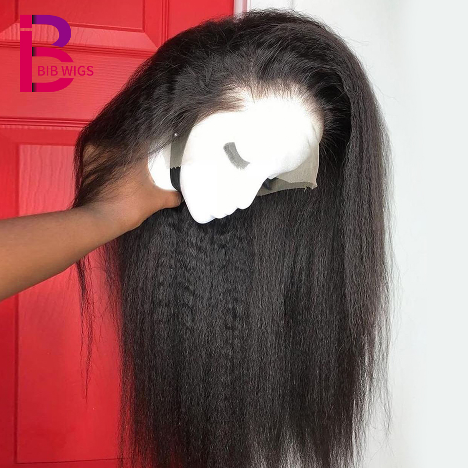 150 Kinky Straight 13 4 Lace Frontal Wig Remy Brazilian Lace Front Human Hair Wigs For