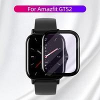 De fibra suave Protector de vidrio cubierta de película para Amazfit GTS 2 Mini GTS2 GTS2e Bip S U Pro Protector de pantalla Smartwatch caso