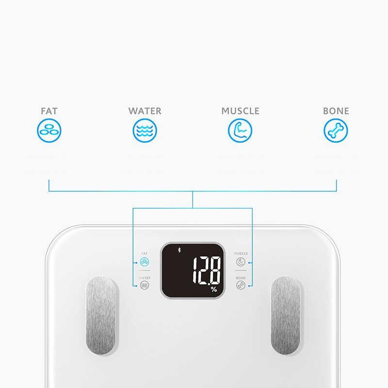 مقياس الدهون في الجسم S9 المنزل ميزان إلكتروني مقياس ميزان الصحة الذكي الكبار الدقة مقياس الدهون في الجسم ل شاومي