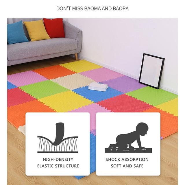 Baby Eva Foam Puzzle Play Mat For Kids Interlocking Exercise Tiles Floor Carpet Rug Kids Rugs Toys Carpet Playmat Bath Mat 4