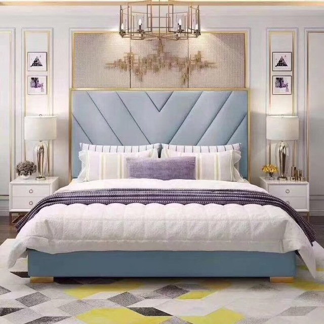 Bedroom Furniture Modern Fabric Bed Hotel Bed 3