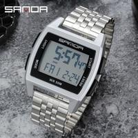 2020 Sanda 새로운 전자 시계 남자 군사 시계 캐주얼 패션 시계 디지털 시계 남자 waterpoof relogio masculino homem