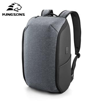 Kingsons Multifunction Men 15 inch Laptop Backpacks Fashion Waterproof Travel Backpack Anti-thief male Mochila School Bags 2020 цена 2017