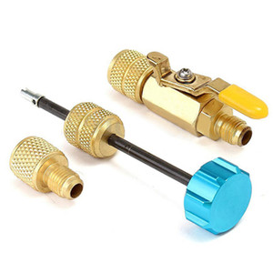 """Image 2 - 11cm Length R22 R410A Air Conditioning Valve Core 1/4"""" Spool Interface Quick Remover Installer Tool"""