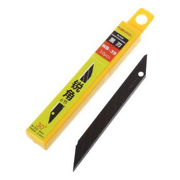 10 sztuk 30 stopni Snap Off wymiana żyletki 9mm ostrze do golenia nóż introligatorski narzędzia ze stali węglowej NB-39 tanie i dobre opinie ZHUTING CN (pochodzenie) Utility Blades