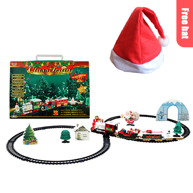 Christmas Electric Rail Car Train Toy Children's Electric Toy Railway Train Set Racing Road Transportation Building Toys 282539 1