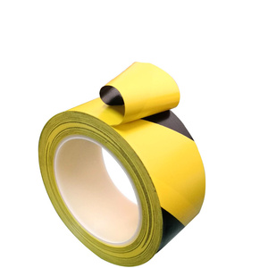 Image 4 - 33M חזק pvc אזהרת בטיחות קלטת שחור צהוב עמיד למים עצמי דבק מתיחה סימון קלטת עבור מפעל מחסן מקום עבודה