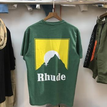 Rhude T Shirt Men Women Casual T-shirts Grey Green Top Quality Shirts