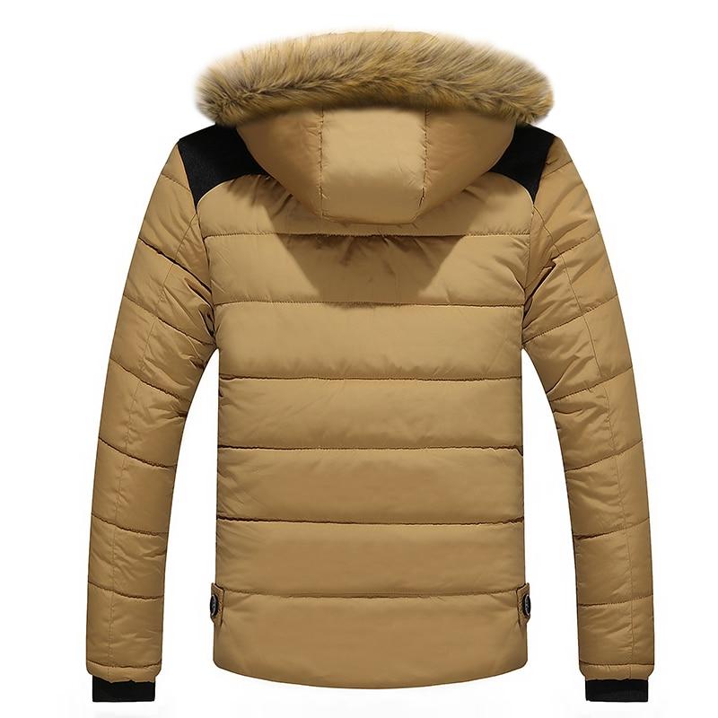 2020 Fur Collar Hooded Men Winter Jacket Men Coat Snow Parka Down Jacket Outerwear Thick Thermal Men Warm Wool Liner Coat M-6XL 2