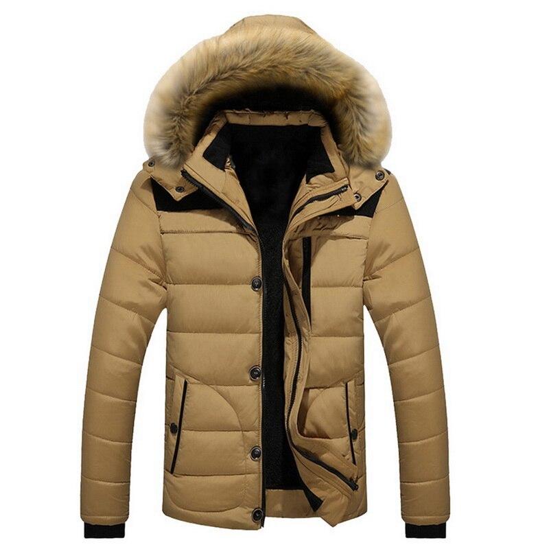 PUIMENTIUA 2019 New Style Winter Jackets Men's Coats Male Parkas Casual Thick Outwear Hooded Fleece Jackets Warm Overcoats