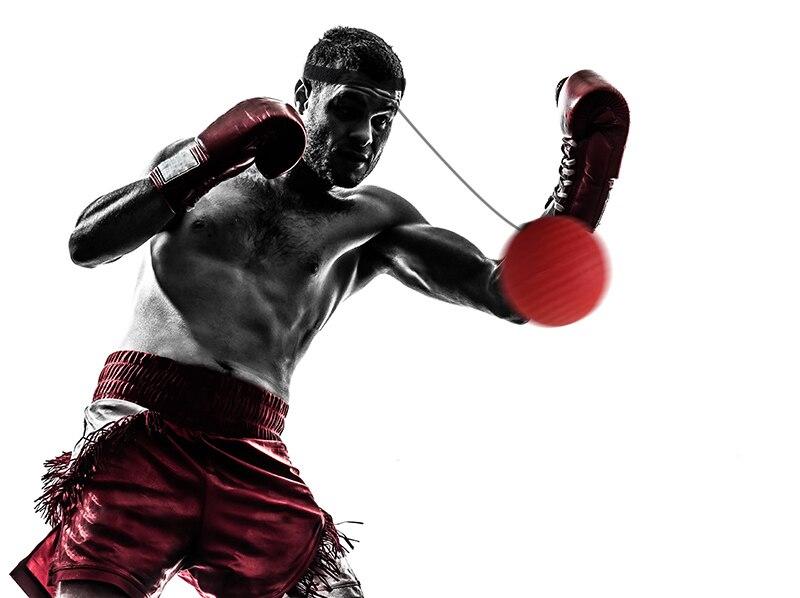 Boxing Reflex Speed Punch Ball Muay Thai MMA Sanda Boxer Raising Reaction Force Hand Eye Training Set Stress Boxing Exercise