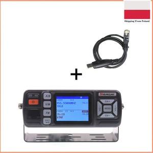 Baojie bj-BJ-318 Dual Band VHF UHF Mobile Radio 20 / 25W Walkie Talkie 10km Auto radio 10KM Upgrade of BJ-218 + Cable