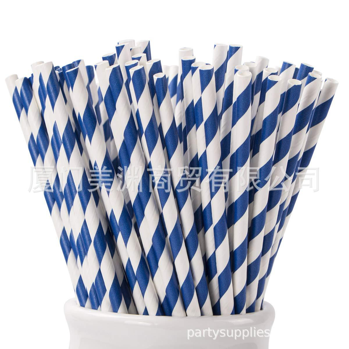 Europe And America Paper Originality Straw Disposable Paper Straw Manufacturers Environmentally Friendly Biodegradable Color Blu