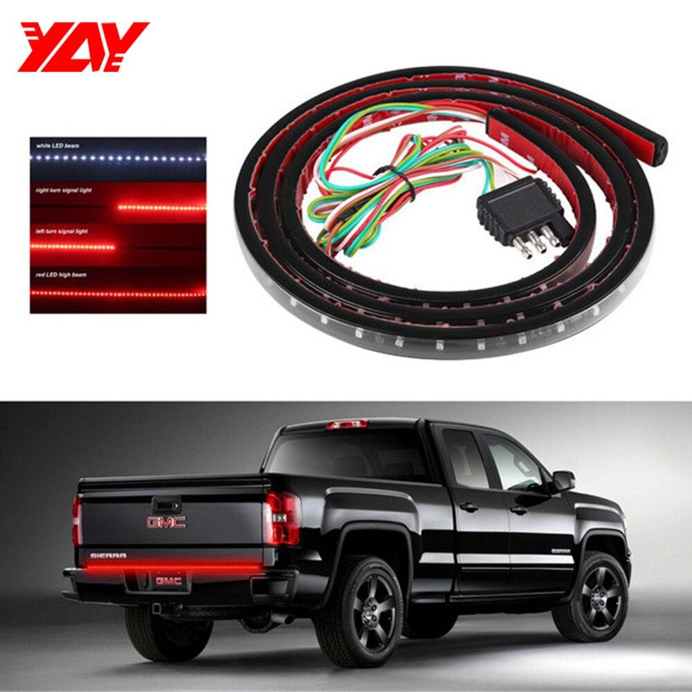 """60/"""" Flexible Strip LED Brake Light For All Truck SUV Turn Signal Tailgate Lamp"""