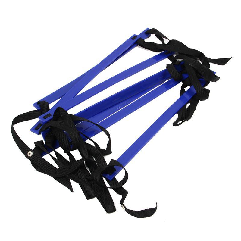 10 Feet Agility Speed Ladder Soccer Training Ladder Quick 7 Flat Rung Speed Ladder-Blue