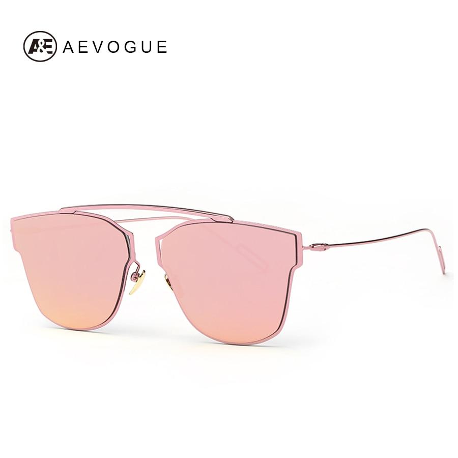AEVOGUE женские солнцезащитные очки, металлическая оправа, светоотражающее покрытие, зеркальная плоская панель, линзы, фирменные дизайнерские солнцезащитные очки AE0329 glasses titanium glasses playerglasses sport   АлиЭкспресс - Трендовые очки