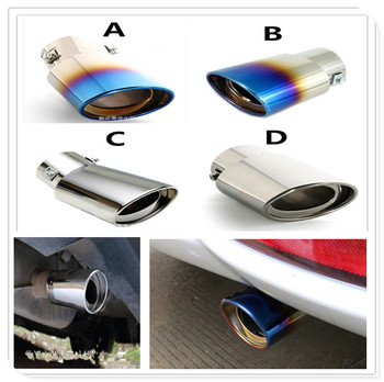 Stainless auto Steel Car Exhaust Muffler Tip cover pipe Tail For BMW 335is Scooter Gran 760Li 320d 135i E60 E36 F30 F30 image