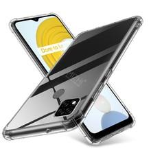 Caso de telefone de silicone transparente para realme c21 limpar capa traseira macia em realmy c 21 c21 21c realmec21à prova de choque casos