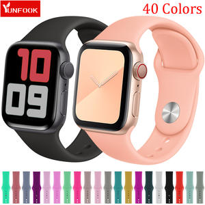 Sport-Strap Iwatch-Band Bracelet Apple 1-Accessories 42mm Silicone for 44-Mm 40mm 38mm