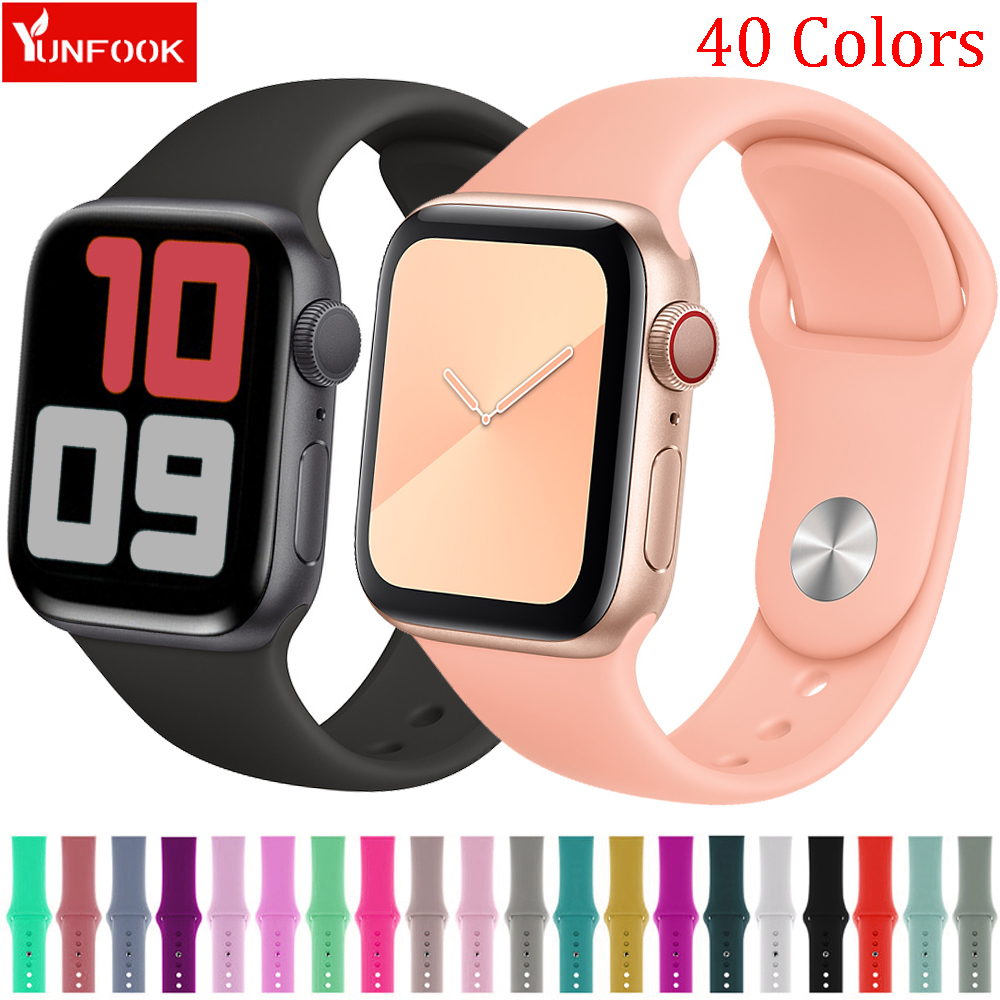 Sport Strap For Apple Watch Band 44 Mm 40mm IWatch Band 42mm 38mm Silicone Watchband Bracelet Apple Watch 5 4 3 2 1 Accessories