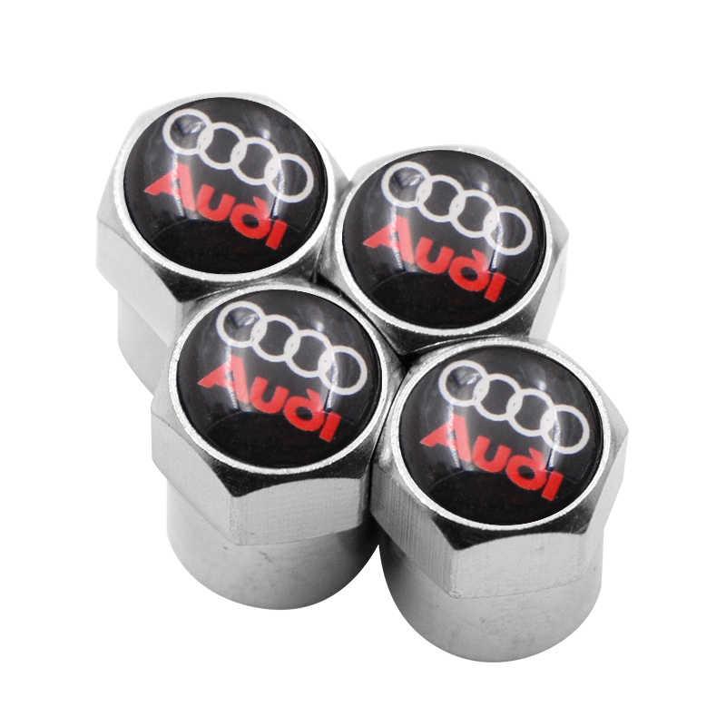 4 Pcs Auto Valvola Della Gomma Della Rotella Protezioni Del Gambo di Protezione Della Copertura per Audi A3 A4 A5 A6 A7 A8 B5 B6 b7 B8 C6 C7 C8 8 V 8 P Accessori per Auto