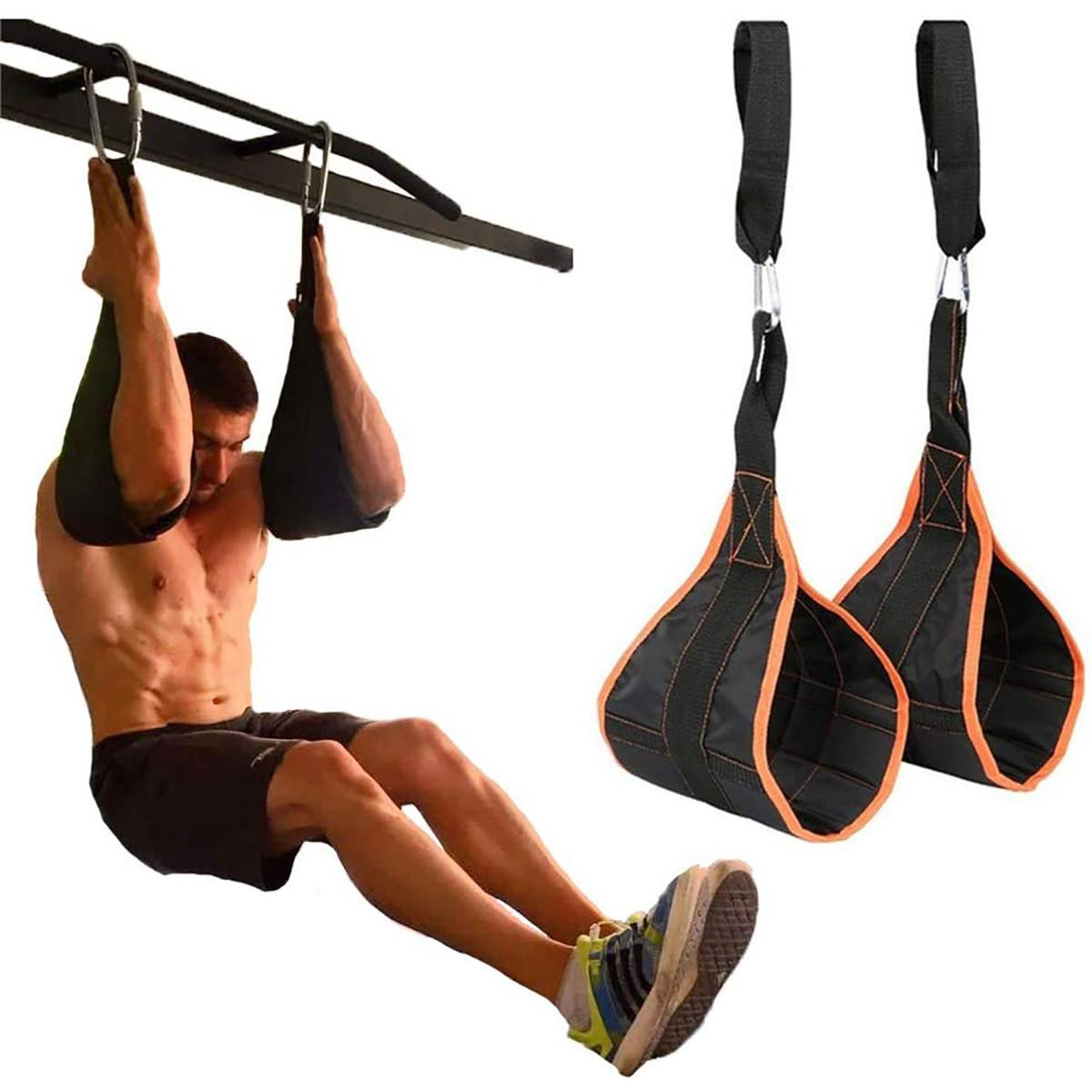 Pull Up Bar Sling Straps Hanging Ab Trainer Abdominal Exerciser Home Gym Workout