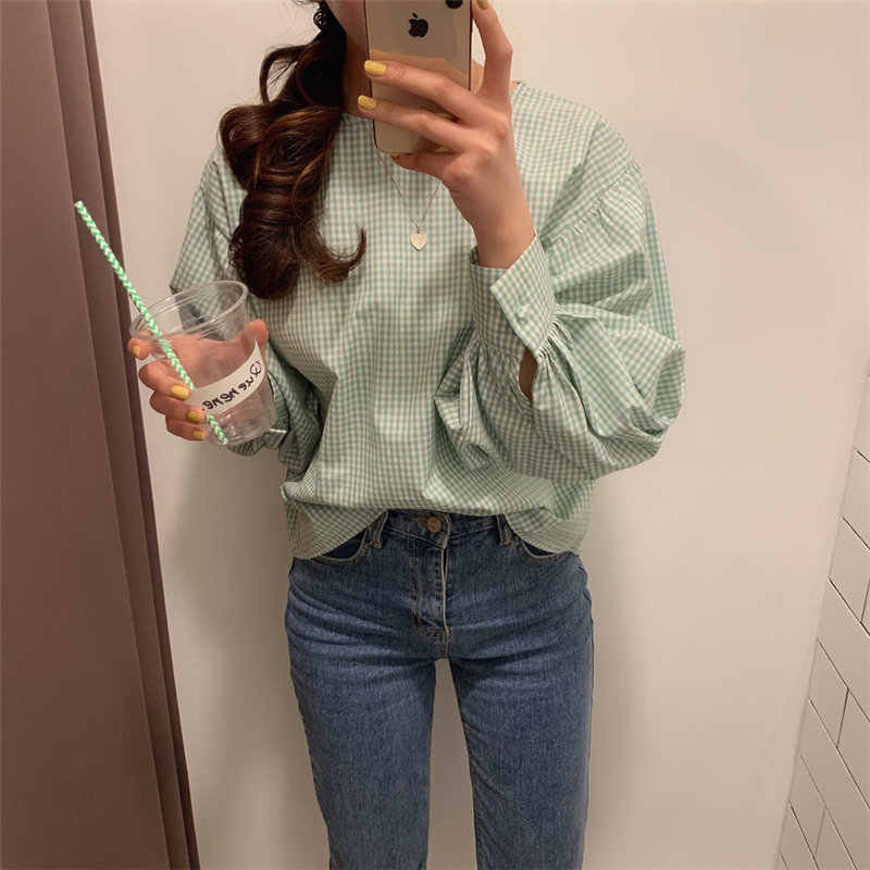 Alien Kitty Chic Solid Puff Mouwen Losse Korte Mouw Zachte 2020 Tops Zomer Leisure Nieuwe Collectie Alle Match Ol Casual shirts