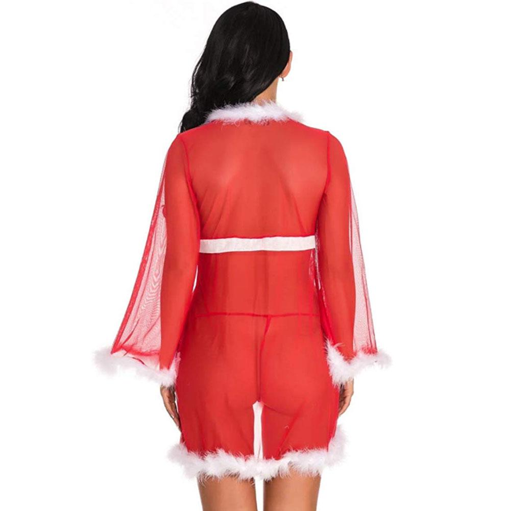 Рождественское нижнее белье, женское сексуальное нижнее белье, красное платье Babydoll, одежда для сна, костюм, Новинка 21