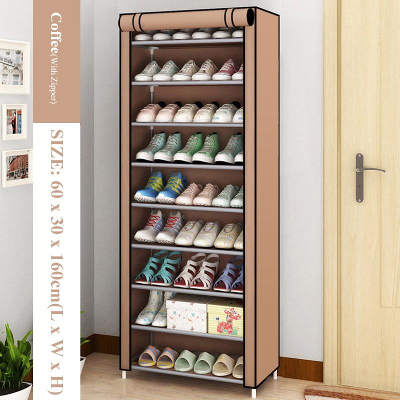 Hot Simple Shoe Rack Non-Woven Dustproof Storage Shoe Cabinet Shoemaker Storage Bag Space Saving Shoe Storage 5