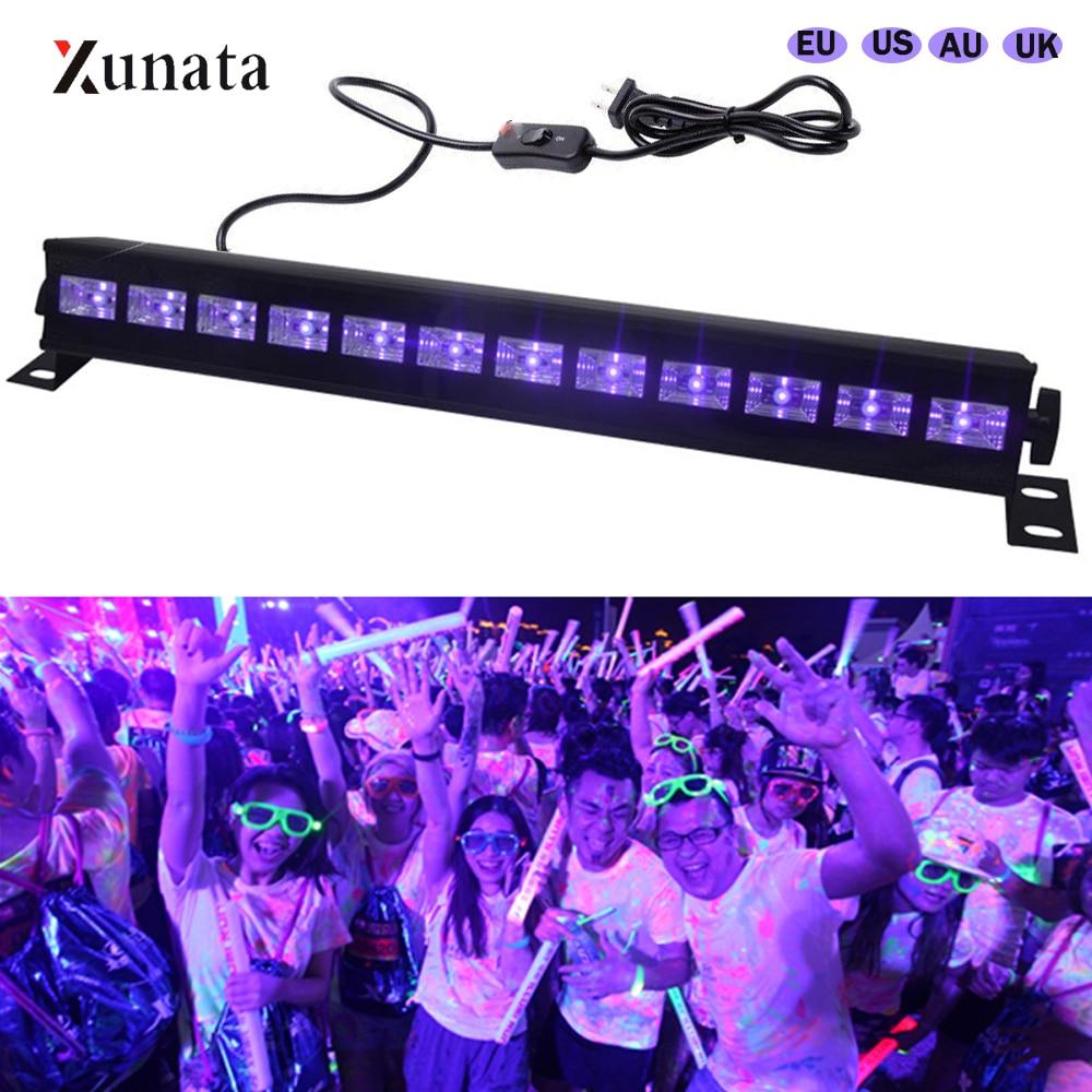 36W LED effet de lumière de scène 12 LED DJ Disco UV Violet mur rondelle projecteur partie Bar projecteur AC 100-240V Laser noir lumières