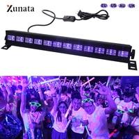 36W LED Stage Light Effect 12 LED DJ Disco UV Violet Wall Washer Spotlight Party Bar Floodlight AC 100 240V Laser Black Lights