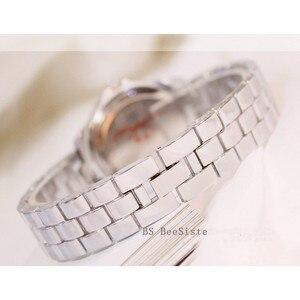Image 5 - Новые роскошные часы Стразы с браслетом, женские модные часы с бриллиантами из розового золота, наручные часы из нержавеющей стали с кристаллами