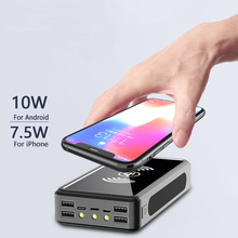 Solar Power Bank 30000mAh Portable Wireless Charger External