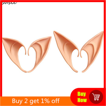 1 Pair Halloween Party Elven Elf Ears Pointed Anime Fairy Cosplay Costumes Vampire Soft Christmas Party Mask 1