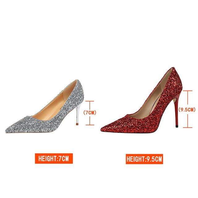 9.5cm High Heels Glitter Scarpins Pumps  6