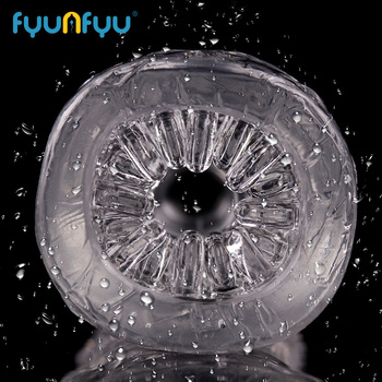 Men Masturbator Crystal Transparent Pocket Pussy Clear Silicone Realistic Vagina For Man Male Sex Products