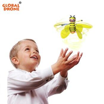 Mini Drone Induzione Ape Ufo Fata Aeromobili per I Bambini Dropship Rc Elicottero Quadrocopter Fly Sfera di Giocattoli per Le Ragazze Dei Ragazzi Giocattoli