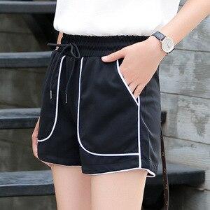 Женские повседневные обтягивающие шорты, черные повседневные шорты для тренировок, лето 2019