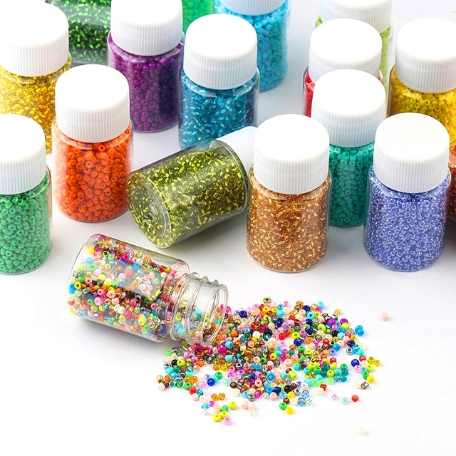 3000pcs Bottled 2mm Glass Seed Beads Charm Czech beads small jewelry beads DIY Bracelet Necklace For Jewelry Making Accessories