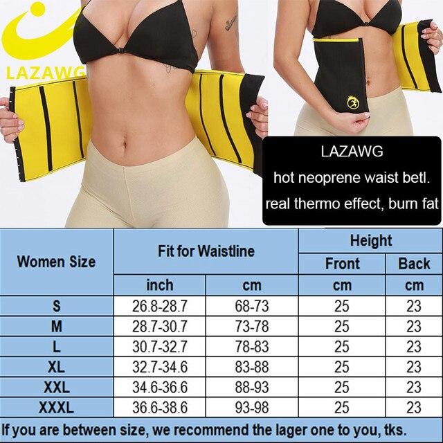 LAZAWG Women Waist Trainer Hot Sweat Neoprene Belt Fat Burn Girdle Slimming Strap Body Shaper Slim Tummy Control Waist Cincher 5